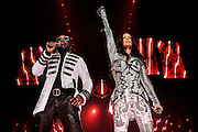 Photos hip hop group Black Eyed Peas performing at the Scottrade Center in St. Louis on August 14, 2010.