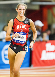 Millrose Games: womens Mile Walk winner Rachel Seaman