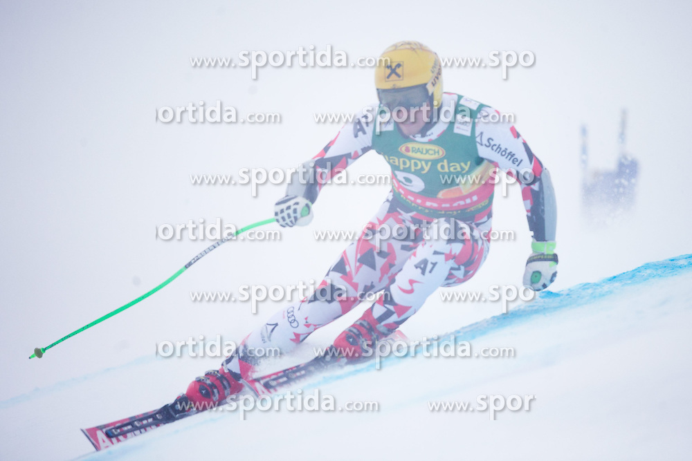 22.02.2015, Schneekristall Zwolfer Weltcupstrecke, Saalbach Hinterglemm, AUT, FIS Weltcup Ski Alpin, Super G, Herren, im Bild Max Franz (AUT) // Max Franz of Austria in action during the men's SuperG of the Saalbach FIS Ski Alpine World Cup at the Schneekristall Zwolfer course in Saalbach Hinterglemm, Austria on 2015/02/22. EXPA Pictures © 2015, PhotoCredit: EXPA/ Johann Groder