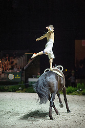 Jacques Ferrari, (FRA), Poivre Vert, Francois Athimon - Individuals Men Freestyle Vaulting - Alltech FEI World Equestrian Games™ 2014 - Normandy, France.<br /> © Hippo Foto Team - Jon Stroud<br /> 03/09/2014