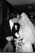 21/04/1964<br /> 04/21/1964<br /> 21 April 1964<br /> Wedding of O'Sullivan - Sturtze at Raheny, Dublin.<br /> Conal O'Sullivan, only son of Mr and Mrs Toddie O'Sullivan, Gresham Hotel Dublin and Miss Vera Sturtze, daughter of Herr and Frau Herman Sturtze of Hamburg and Howth after their marriage at the Church of Our Lady of Divine Grace, Raheny, Co. Dublin. The couple leaving the church after the ceremony.