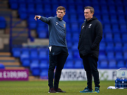 BIRKENHEAD, ENGLAND - Wednesday, December 6, 2017: Liverpool's Under-18 manager Steven Gerrard before the UEFA Youth League Group E match between Liverpool FC and FC Spartak Moscow at Prenton Park. (Pic by David Rawcliffe/Propaganda)