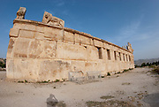 partially restored Qasr Al-Abd palace at Al-Iraq historical site, Jordan