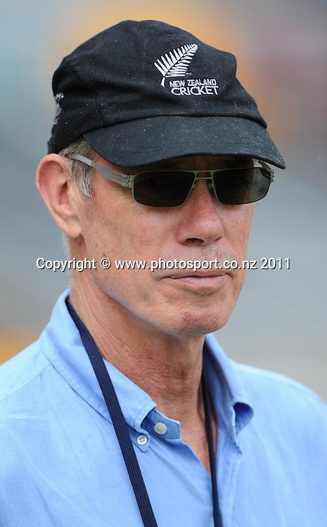 John Buchanan ahead of the first cricket test in Brisbane tomorrow. Wednesday 30 November 2011. Photo: Andrew Cornaga/Photosport.co.nz
