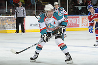KELOWNA, CANADA - FEBRUARY 15:  Shane McColgan #18 of the Kelowna Rockets skates on the ice against the Kelowna Rockets on February 15, 2012 at Prospera Place in Kelowna, British Columbia, Canada (Photo by Marissa Baecker/Getty Images) *** Local Caption *** Shane McColgan;
