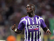Moussa Sissoko of Toulouse pulls an odd face. Toulouse v Trabzonspor, Europa Cup, Second Leg, Stade Municipal, Toulouse, France, 27th August 2009.