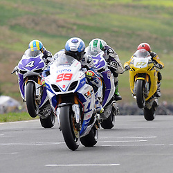 British Superbikes, Knockhill, 16-06-2013<br /> <br /> PJ Jacobson leads a group<br /> <br /> (c) David Wardle | StockPix.eu