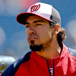 Mar 6, 2013; Clearwater, FL, USA; Washington Nationals third baseman Anthony Rendon (6) against the Philadelphia Phillies before a spring training game at Bright House Field. Mandatory Credit: Derick E. Hingle-USA TODAY Sports
