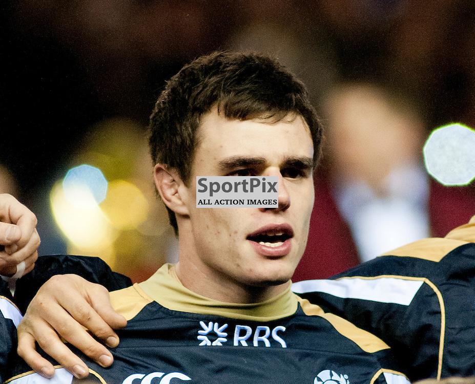 Lee Jones sings the national anthem,Scotland v England RBS 6 NATIONS, Murrayfield Stadium, Edinburgh