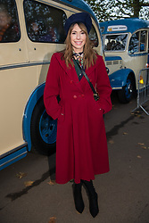 © Licensed to London News Pictures. 05/11/2017. London, UK. One Show presenter ALEX JONES takes part at the Hyde Park start of the annual Bonhams London To Brighton Veteran Car Run. Photo credit: Ray Tang/LNP