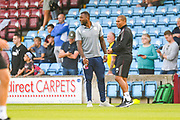 Wes Morgan of Leicester City (5) before the Pre-Season Friendly match between Scunthorpe United and Leicester City at Glanford Park, Scunthorpe, England on 16 July 2019.