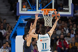 March 2, 2018 - Madrid, Madrid, Spain - Facundo Campazzo (R) during Fenerbahce Dogus Istanbul victory over Real Madrid (83 - 86) in Turkish Airlines Euroleague regular season game (round 24) celebrated at Wizink Center in Madrid (Spain). March 2nd 2018. (Credit Image: © Juan Carlos Garcia Mate/Pacific Press via ZUMA Wire)