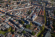 Nederland, Friesland, Sneek, 08-09-2009; Binnenstad met Westersingel en .Martiniplein. .City centre.Luchtfoto (toeslag); aerial photo (additional fee required); .foto Siebe Swart / photo Siebe Swart