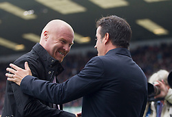 Burnley manager Sean Dyche and Everton manager Marco Silva (R) before the match - Mandatory by-line: Jack Phillips/JMP - 05/10/2019 - FOOTBALL - Turf Moor - Burnley, England - Burnley v Everton - English Premier League