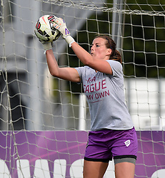 Bristol Academy's Hannah Reid warms up before the FA Women's Super League game between Bristol Academy Women and Manchester City Women on 18 July 2015 in Bristol, England - Photo mandatory by-line: Paul Knight/JMP - Mobile: 07966 386802 - 18/07/2015 - SPORT - Football - Bristol - Stoke Gifford Stadium - Bristol Academy Women v Manchester City Women - FA Women's Super League