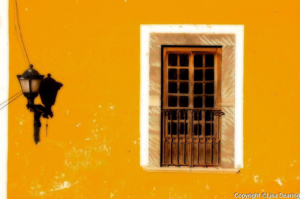 Window and Street Light, Guanajuato, Mexico