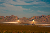 The Ivanpah Solar Power Facility in the Mojave Desert of California (near the border of Nevada) is the largest solar thermal power plant in the world.