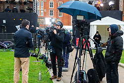 Broadcasters from around the world continue to fed their audiences the latest developments in Britain's dramatic and complicated Brexit debate following last night's heavy Defeat in the House of Commons of the government's proposed Brexit deal. London, January 16 2019.