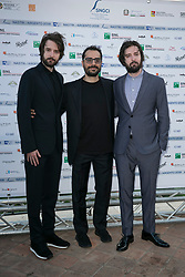 Nastri d'argento film awards assigned to Taormina by the journalists' union. 30 Jun 2018 Pictured: Fabio e Damiano D'Innocenzo, Giuseppe Sacca'. Photo credit: Fabio Caia / MEGA TheMegaAgency.com +1 888 505 6342