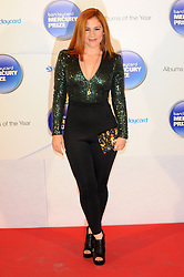 Mercury Prize. <br /> Katy B attends the Barclaycard Mercury Prize at The Roundhouse, London, United Kingdom. Wednesday, 30th October 2013. Picture by Chris Joseph / i-Images