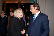 DAME DIANA RIGG; ERIC DEARDORFF CEO GARRARD, Cecil Beaton private view. V and A Museum. London. 6 February 2012