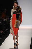 Kate King walks the runway wearing BCBG MAXAZRIA Fall 2012 during Mercedes-Benz Fashion Week in New York City,  on February 9th, 2012
