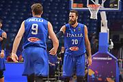 Luigi Datome ,Niccolo Melli<br /> Nazionale Italiana Maschile Senior<br /> Eurobasket 2017 - Group Phase<br /> Georgia - Italia<br /> FIP 2017<br /> Tel Aviv, 02/09/2017<br /> Foto Ciamillo - Castoria/ M.Longo