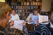 Residents of the Ellison Park Apartments in Rochester, New York work in an English as a Second Language class on Tuesday, January 3, 2017. The complex is a Naturally Occurring Retirement Community, or NORC, home to many Russian and Ukrainian immigrants.