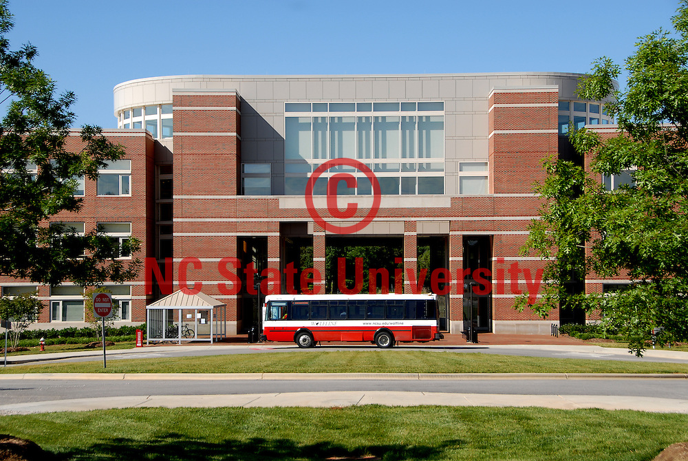 Wolfline bus drops off student at Engineering Building 2 on Centennial Campus. PHOTO BY ROGER WINSTEAD