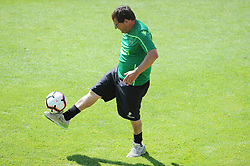 July 12, 2018 - Na - Nyon, 12/07/2018 - Sporting Clube de Portugal trained this morning during their pre-season training session in Switzerland at the Colovray Sports Center in Nyon. Paulinho  (Credit Image: © Atlantico Press via ZUMA Wire)