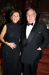 MR SEBASTIAN DE FERRANTI and MS.BARBARA TAKA at a recital and dinner to celebrate the 10th anniversary of The Galitzine Library held at 2 Temple Place, London WC2 on 16th November 2004.<br />