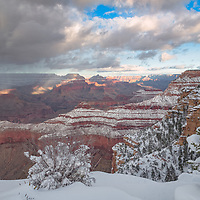 Snowy layers in the Canyon! Grand Canyon National Park, AZ
