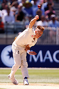 Tom Curran bowls a ball during the Magellan fourth test match between Australia v England at  the Melbourne Cricket Ground, Melbourne, Australia on 26 December 2017. Photo by Mark  Witte.