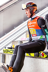 24.02.2019, Bergiselschanze, Innsbruck, AUT, FIS Weltmeisterschaften Ski Nordisch, Seefeld 2019, Skisprung, Herren, Teambewerb, Probesprung, im Bild Junshiro Kobayashi (JPN) // Junshiro Kobayashi of Japan during the trial jump for the men's skijumping team competition of FIS Nordic Ski World Championships 2019 at the Bergiselschanze in Innsbruck, Austria on 2019/02/24. EXPA Pictures © 2019, PhotoCredit: EXPA/ Stefanie Oberhauser
