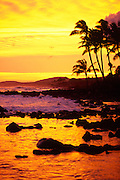 Sunset, Poipu, Kauai, Hawaii, USA<br />