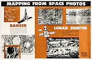 Poster describing early process of photographing and mapping the lunar surface from orbit