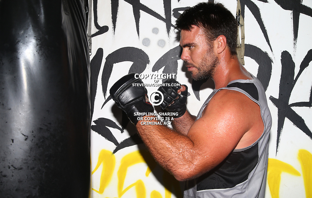 DURBAN, SOUTH AFRICA - JANUARY 16: Francois Klenhans during the Cell C Sharks boxing session at Domination on January 16, 2017 in Durban, South Africa. (Photo by Steve Haag/Gallo Images)
