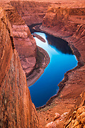 Sunset over Horseshoe Bend and the Colorado River, Glen Canyon National Recreation Area, Arizona USA