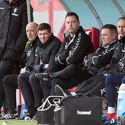 Rangers manager Steven Gerrard during the Scottish Premiership match at the Superseal Stadium, Hamilton.