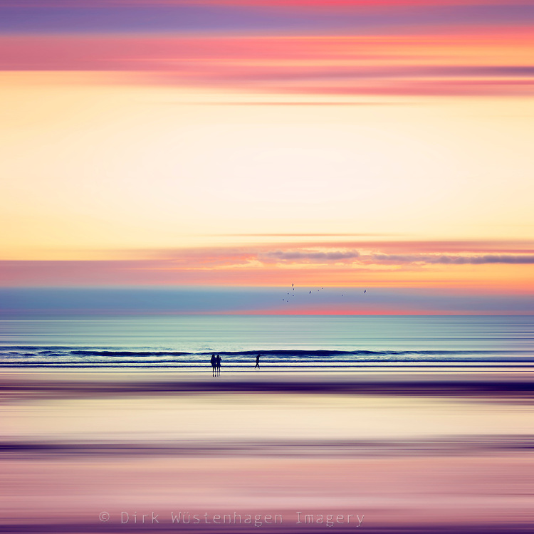 Sunset over the Atlantic near Mimizan, France - abstract seascape<br /> Society6 products: http://bit.ly/2fNluwo<br /> CURIOOS Prints: https://www.curioos.com/product/print/pastel-horizons