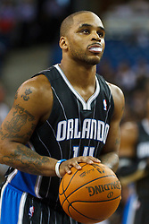 March 9, 2011; Sacramento, CA, USA;  Orlando Magic point guard Jameer Nelson (14) shoots a free throw against the Sacramento Kings during the first quarter at the Power Balance Pavilion. Orlando defeated Sacramento 106-102.