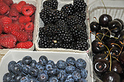 Assortment of Fresh Berries and Cherries