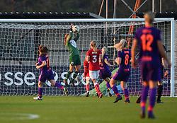 Sophie Baggaley of Bristol City stops a Liverpool ball - Mandatory by-line: Paul Knight/JMP - 17/11/2018 - FOOTBALL - Stoke Gifford Stadium - Bristol, England - Bristol City Women v Liverpool Women - FA Women's Super League 1