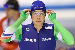 11-12-2015 NED: ISU World Cup, Heerenveen<br /> Team pursuit men / Nederland pakt in 3:43.77 het goud op de achtervolging. Sven Kramer