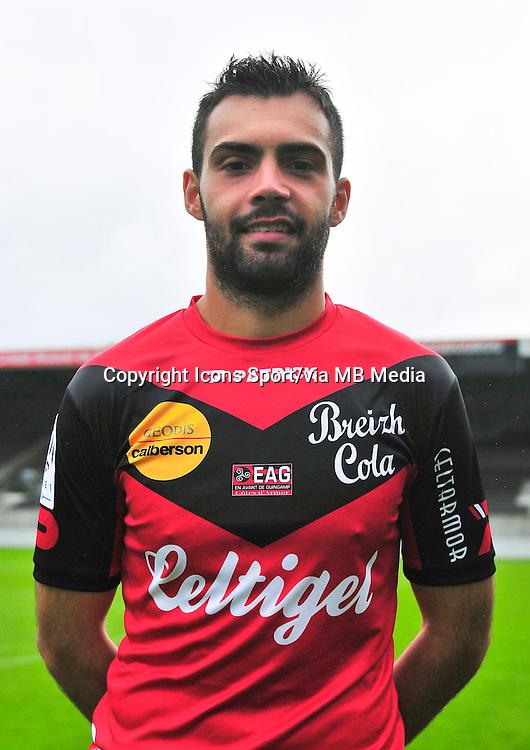 Laurent DOS SANTOS  - 18.09.2013 - Photo officielle - Guingamp - Ligue 1<br /> Photo : Philippe Le Brech / Icon Sport