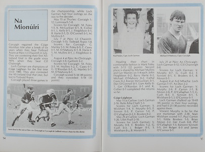 All Ireland Senior Hurling Championship Final,.Galway Vs Offaly,Offaly 2-11, Galway 1-12,.01.09.1985, 09.01.1985, 1st September 1985,.01091985AISHCF,..Paul Nolan, captain Loch Garman, Michael O'Mahony, captain Cork, .