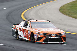 July 14, 2017 - Loudon, NH, United States of America - July 14, 2017 - Loudon, NH, USA: Daniel Suarez (19)  hangs out in the garage during practice for the Overton's 301 at New Hampshire Motor Speedway in Loudon, NH. (Credit Image: © Justin R. Noe Asp Inc/ASP via ZUMA Wire)