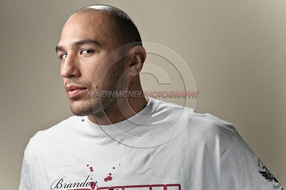 "A portrait of mixed martial arts athlete Brandon ""The Truth"" Vera"