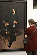 """Europe, Germany, Cologne, the art exhibition Art Cologne at the exhibition centre in the town district Deutz, painting """"Alex Arcadia"""" by David Nicholson..Europa, Deutschland, Koeln, Kunstmesse Art Cologne in den Deutzer Messehallen, Gemaelde """"Alex Arcadia"""" von David Nicholson. ***HINWEIS ZU DEN ABGEBILDETEN KUNSTWERKEN - RECHTE DRITTER SIND VOM NUTZER ZU KLAEREN*** ***PLEASE NOTE: THIRD PARTY RIGHTS OF THE SHOWN WORK OF ART MUST BE CHECKED BY THE USER***"""