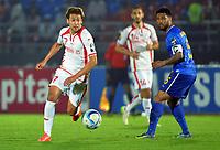 Fotball<br /> Afrika Cup / Afrikamesterskapet<br /> 18.01.2015<br /> Tunisia v Kapp Verde<br /> Foto: Panoramic/Digitalsport<br /> NORWAY ONLY<br /> <br /> Youssef Msakni (TUN) vs Elvis Manuel Macedo (CAP)